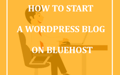 How to start a successful wordpress blog on bluehost from home and make money