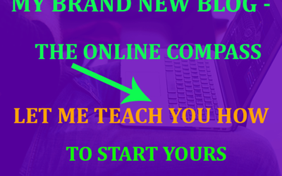 My brand new blog- The Online Compass: let me teach you how to start yours