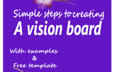 Tips for Creating a 2018 Vision Board with Examples and Free Template