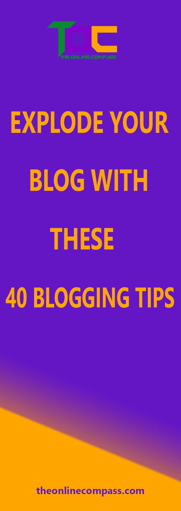 40 tips for blogging